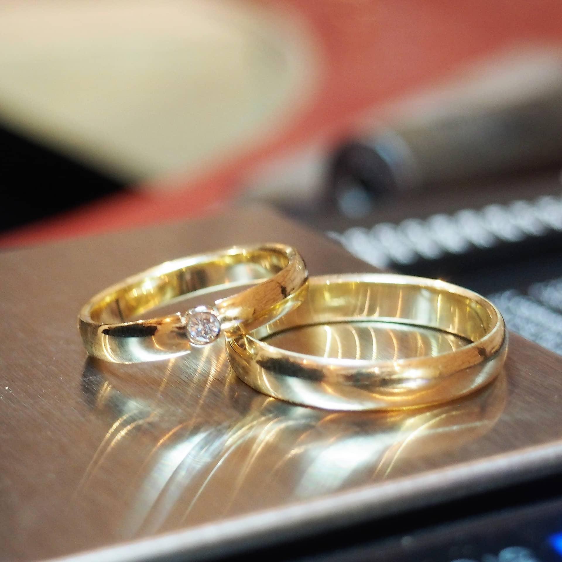 Картинки обручальные кольца пара, онлайн открытка